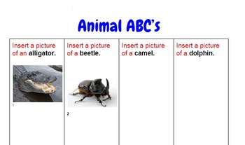 Animal Picture ABC's (Google Drive Resource) FREE DOWNLOAD