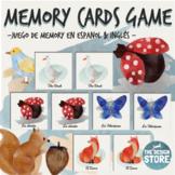 Spanish & English Animal Flashcards / Memory Match Card Ga