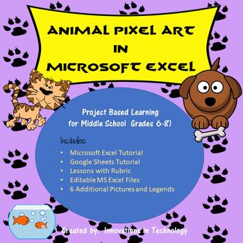Animal Pixel Art in Microsoft Excel