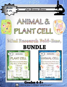 Animal & Plant Cell Interactive Research Fold-Ems, Flip-Em