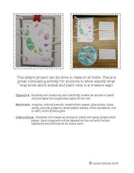 Animal & Plant Cell Mini-Project