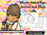 Animal & Plant Cells Interactive Notebook Pages  **EDITABLE**