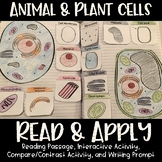 Animal and Plant Cells + Organelles Reading Comprehension Interactive Notebook