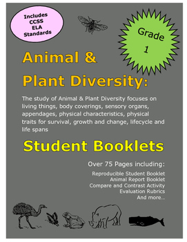 Grade 1 Science Animals & Plants Student Booklet