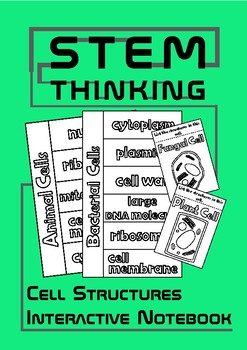 Animal Plant Fungal Bacterial Cell Structures Interactive Biology Notebook INB