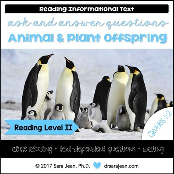Animal & Plant Offspring • Reading Comprehension Passages and Questions • RL II