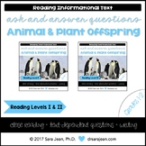 Animal & Plant Offspring • Reading Comprehension Passages & Questions • RL I/II