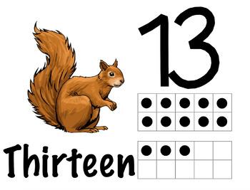 Animal Play dough/Mini Eraser Counting Mats (11-20)