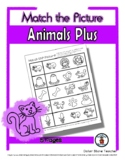 Animal Plus Matching - Print, Answer & Color Worksheets - 5 Pages
