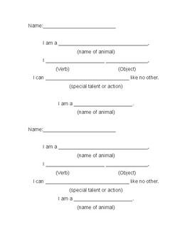 Animal Poem Organizer/Outline