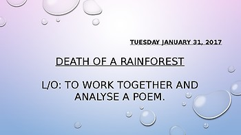 Animal Poetry - Death of a Rainforest