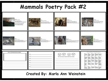 Animal Poetry Packs Bundle #2