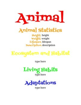 Animal Poster Project