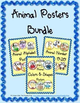 Animal Posters Bundle (round)