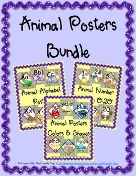 Animal Posters Bundle (square)