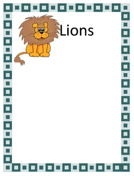 Animal Posters for Centers
