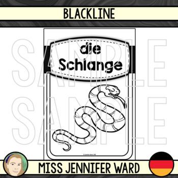 Animal Posters in German BUNDLE