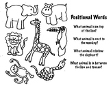 Animal Positional Words