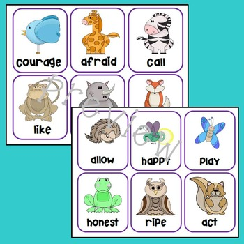 Animal Prefixes Match-it-Up Literacy Center Game