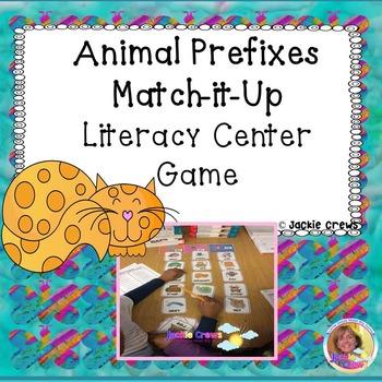 Animal Prefixes Match-it-Up Literacy Center Game
