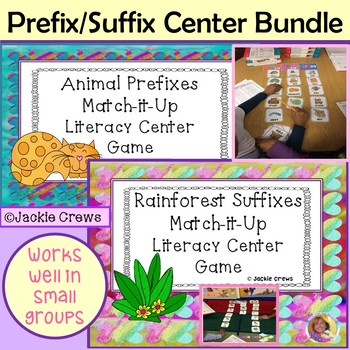 Animal Prefixes and Rainforest Suffixes Bundle
