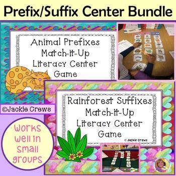 Animal Prefixes and Rainforest Suffixes Bundle