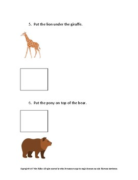 Animal Prepositions: On top and Under
