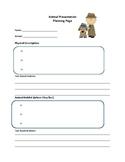 Animal Presentation Planning Page