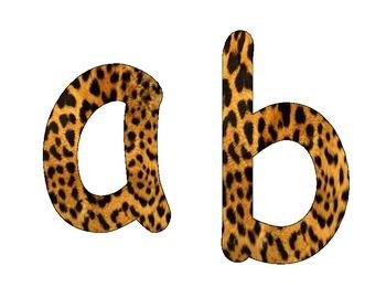 Animal Print Alphabet