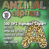 Animal Print Alphabet Alpha Clip Art