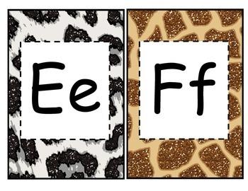 Animal Print Alphabet Banner