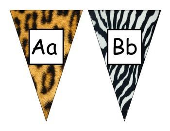 Animal Print Alphabet Pennants