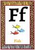Classroom Decor-Animal Print Alphabet Posters