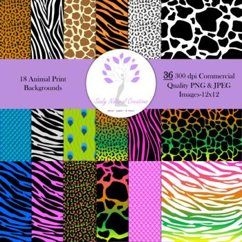 Animal Print Backgrounds 12x12