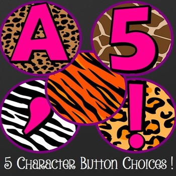 Animal Print Banners and Bunting Classroom Decorations