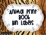 Animal Print Book Bin Labels