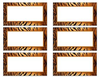 Animal Print Book Bin Labels (Editable)