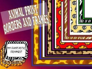 Animal Print Borders and Frames