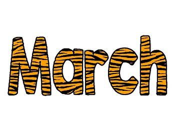 Animal Print Calendar Months