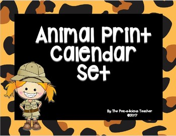 Animal Print Calendar Set