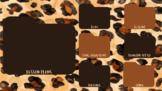 Animal Print Cheetah Watercolor Desktop Wallpaper and Comp