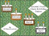Animal Print Class Birthday Cakes