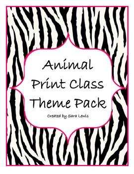 Animal Print Class Set / Class Theme (color)