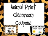 Animal Print Classroom Coupons