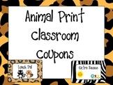 Animal Print Classroom Coupons
