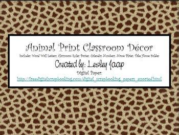 Animal Print Classroom Decor