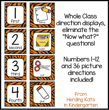 Animal Print Classroom Decor: Picture Directions