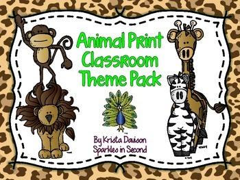 Animal Print Classroom Decor Set