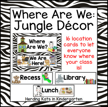Animal Print Classroom Decor: Where Are We? Door Signs