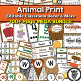 Animal Print Theme Classroom Decor